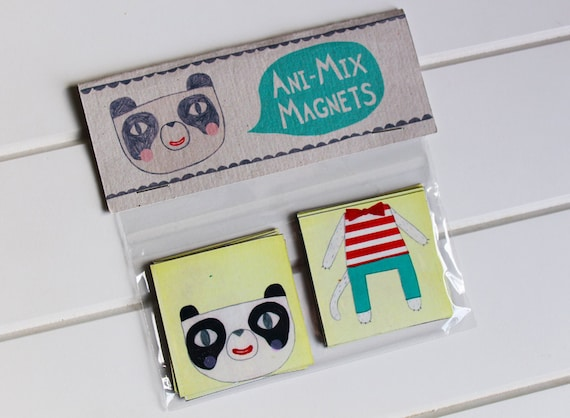 Animal magnets - mix and match magnet set