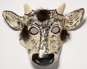 Paper mache calf mask