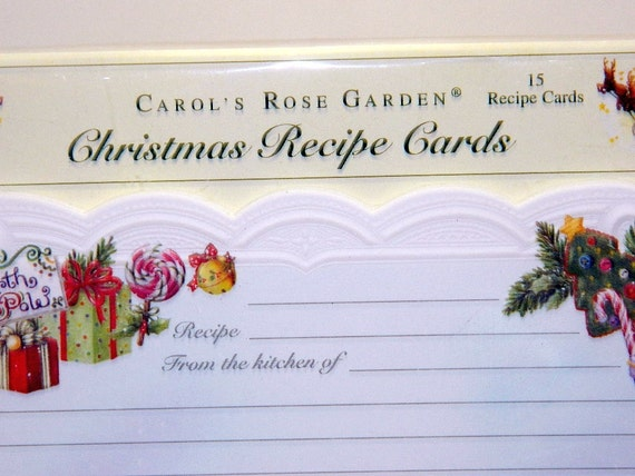 Carol S Garden: Carol's Rose Garden Christmas Recipe Cards