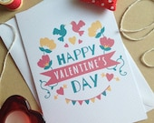 Pretty Floral Modern Valentine's Day Card