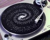 Spiral Galaxy LP Slipmat - Interstellar Hand Printed Felt Turntable Mat