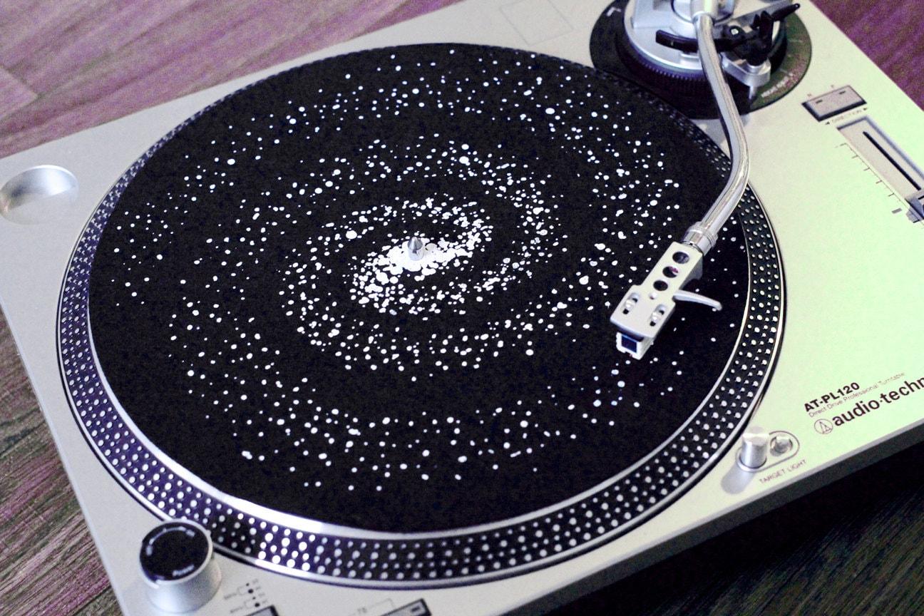 Spiral Galaxy Lp Slipmat Interstellar Hand Printed Felt