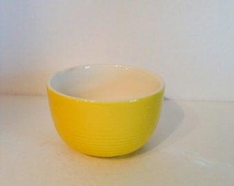 Vintage Yellow Open Sugar Bowl