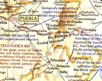 1968 Archeological Map of Middle America, Land of the Feathered Serpent