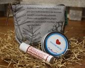 Gift for Women / Wallet Lip Balm Gift Set