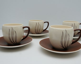 Set of Four Carlton Ware Cups and Saucers