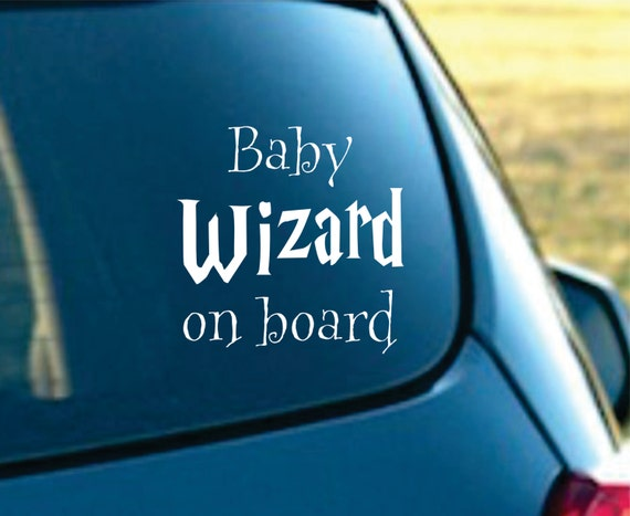 Baby Wizard on board Vinyl Car Decal