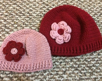 Mommy and Me Hat, Mother Daughter Beanie hat