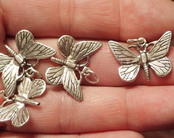 One Small Sterling Butterfly Charm