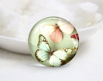 10mm 12mm 14mm 16mm 18mm 20mm 25mm 30mm Handmade  Photo Glass Cabochons -Butterfly (P1109)