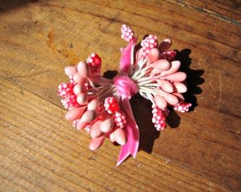 Bright Pink  Millinery Stamen Bundle