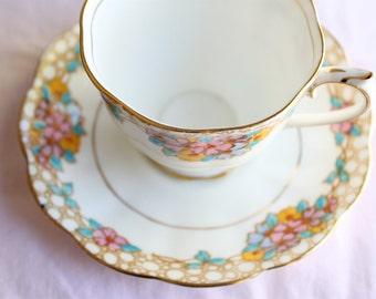 Vintage Royal Albert Teacup & Saucer Crown China Floral Chintz