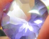 Amethyst buff top faceted designer gem 34.30 ct.