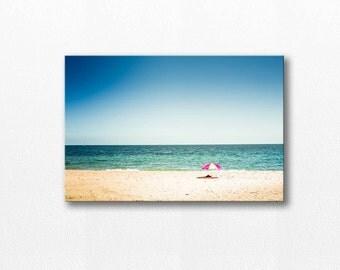 nautical decor beach canvas art beach photography canvas print 12x18 24x36 fine art photograph ocean canvas wrap coastal canvas large canvas