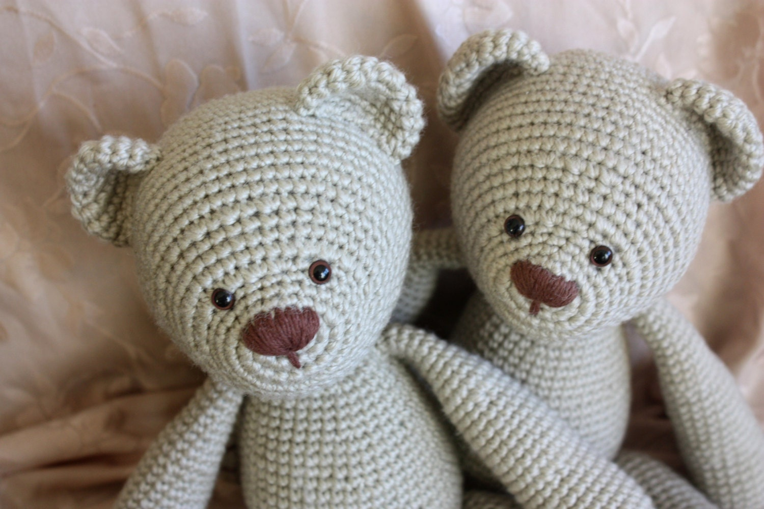 Amigurumi Bear Tutorial : PATTERN: Lucas the Teddy Amigurumi Pattern Classical Teddy