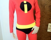 Incredibles Full Spandex Costume--- For Adults size, and Childs size, Spandex Suit, One Piece, Red Lycra, Super Hero, Adult Cosplay