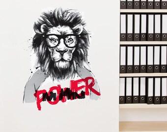 Power Lion Removable Wall Sticker | LSB0009CLR