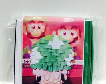 3D Origami 1 up mushroom green  Kit