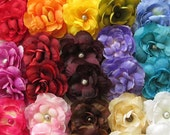 Silk Ranunculus Mini Hair Flower Clips/Pins - 15 Color Choices!
