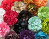 Deluxe Ranunculus Hair Flower Clip & Pin - 17 Color Choices!
