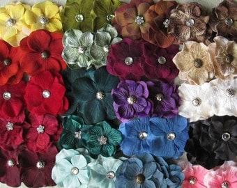Hydrangea Mini Hair Flower Clips/Pins or Shoe Clips - 20 Color Choices!