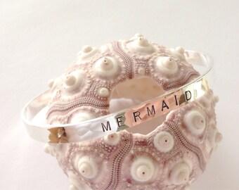 Mermaid sterling silver cuff