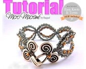 INSTANT DOWNLOAD Micro-Macrame Bracelet  PATTERN Stormy Sunset""