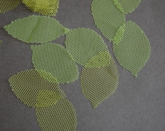 3doz - Tulle Die Cut Leaves