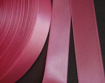 "5yds - 1"" Bubble Gum Pink DF Satin Ribbon"