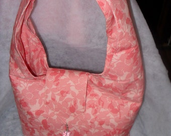 Pink Tote / Pink purse/ Boho bag