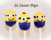 So Sweet Pops Happily Made Minion Inspired Cake Pops