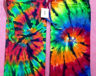 2 Wine Gift Bag Tie Dye: Made to Order