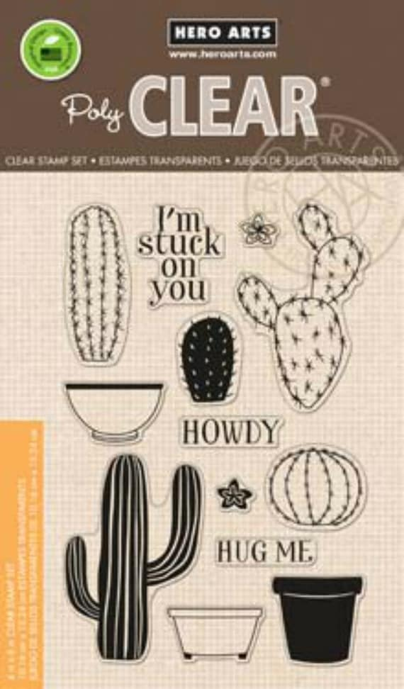Hero Arts Stamp Your Own Cactus CL838 Clear Stamps