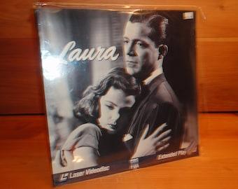 1944 LAURA Gene Tierney, Dana Andrews, Clifton Webb, Film Noir Laserdisc in Archival Sleeve, Ld Laserdisk Disk Lazerdisc Laser Disc, SEALED!