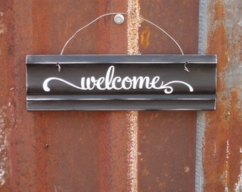 Black and White Welcome Sign - Welcome Door Sign -  Welcome Sign - Housewarming Gift