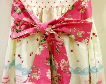 Barefoot Roses by Tanya Whelan Pink Stemmed Flowers 1 Yard