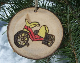 BIG WHEEL |  ASPEN Wood Slice Ornaments