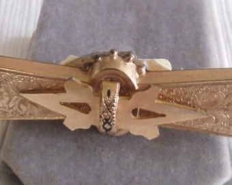 REDUCED  Old Rolled Gold Brooch, Often worn at the Collar