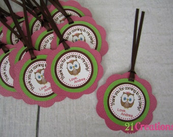 Look Whoo's 1 Favor Tags - set of 12
