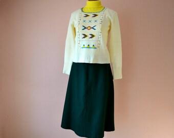 1970's Aztec Southwestern Ikat Sweater Modern Size Medium - VTB31