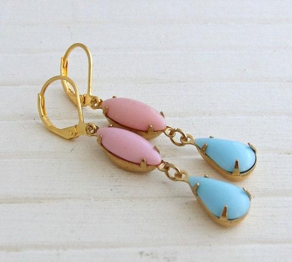 Pink And Blue Earrings  Pastel Earrings Powder Blue Soft. Baby Pendant. Mens Dog Tag Pendant. Stone Pendant. Diamond Bezel Pendant. Flame Pendant. Native American Wolf Pendant. Western Pendant. Antique Diamond Pendant