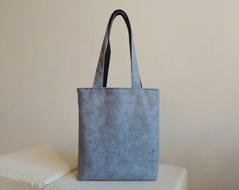Grey Wool Felt Tote Bag