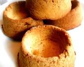 Corn Bread Bowls, Chili Con Carne Bowls, 4 Handmade