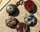 Antique Composition Button Bracelet