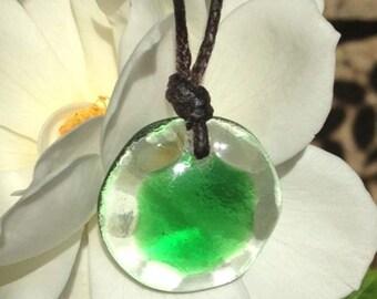 Heart Chakra Orb Necklace, Reiki Energy Healing Jewelry
