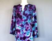 Tie Dye Tunic, Bohemian Blouse, Tie Dye Shirt, Tunic Top, Women's Tunic, Hippie Clothes