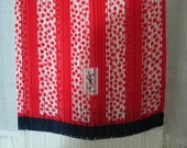 N.O.S. w/ tag Vintage YSL long narrow scarf red white navy