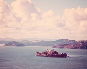 San Francisco Photography, SF Alcatraz Art Print, San Francisco Art, Urban Art Print, Nautical Decor Ocean Photography - The Rock
