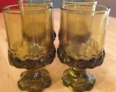 Vintage Franciscan Glassware Madeira 1970s Vintage Barware 4 Juice Glasses