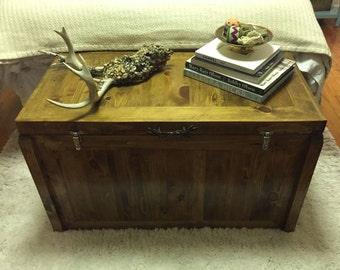 Handmade wood trunk